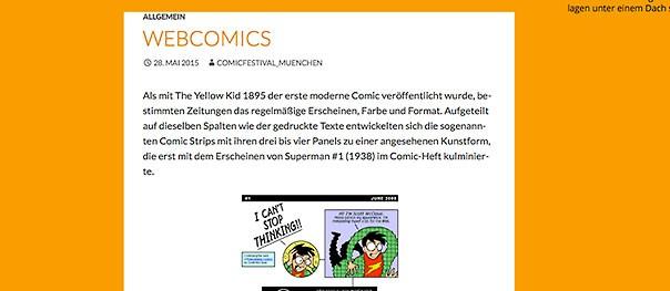 Webcomics auf dem Comicfestival München
